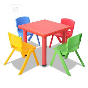 Multicoloured Kids Plastic Table and 4 Chairs | Children's Furniture for sale in Lagos State, Ikeja
