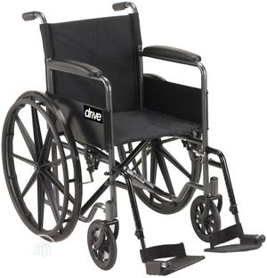 Silver Sport Wheelchair With Half Fold Back (18 Inches)   Medical Supplies & Equipment for sale in Lagos State, Ikeja