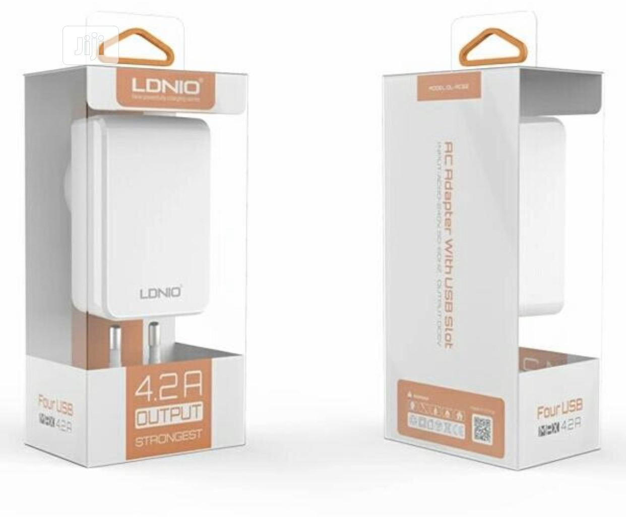 LDNIO 4 USB Outputs 4.2A Wall Charger | Accessories & Supplies for Electronics for sale in Ikeja, Lagos State, Nigeria