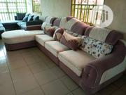 L Shape Sofa Chairs With Throw Pillows   Furniture for sale in Lagos State, Lekki Phase 1