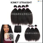 Kinky Straight 14inches (3bundles +1 Closure) | Hair Beauty for sale in Lagos State, Orile