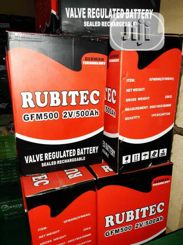 Archive: High Quality 2v 500ah Rubictec Inverter Battery