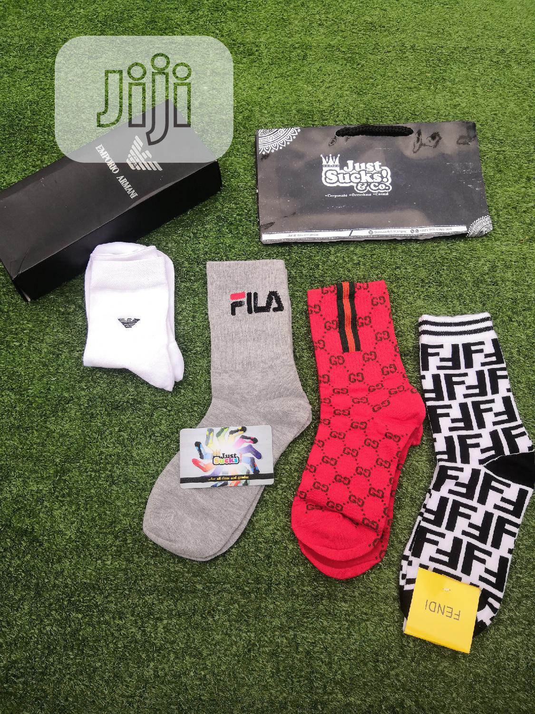 Gucci Offwhite Adidas Champion Fendi Balenciaga Fila Designer Socks   Clothing Accessories for sale in Shomolu, Lagos State, Nigeria