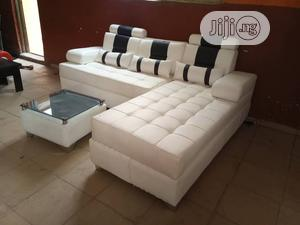 Lshape of Quality Design With Glass Centre Table   Furniture for sale in Lagos State