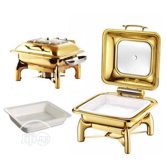 Archive: Gold Chaffing Dishes