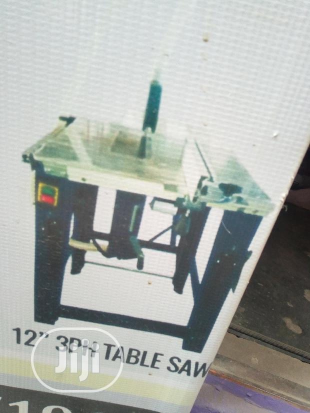 "12"" Three Phase Table Saw With Table Extension. Electric Motor"