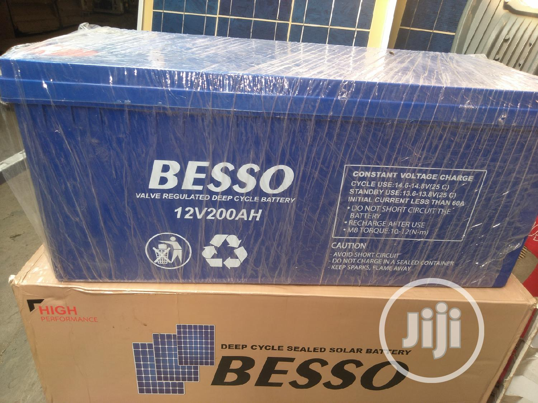 200ah/12v Besso Sealed Battery | Solar Energy for sale in Ojo, Lagos State, Nigeria