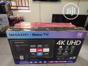 "Sharp 55"" 4K Uhd Hdr LED Roku Smart TV (55lbu591c) | TV & DVD Equipment for sale in Lagos State, Magodo"