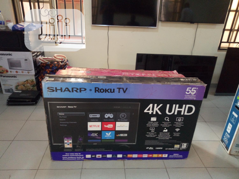 "Archive: Sharp 55"" 4K Uhd Hdr LED Roku Smart TV (55lbu591c)"