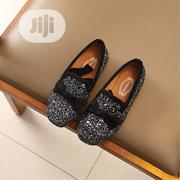 Glitter Black Flat Moccasin Shoe for Girls | Children's Shoes for sale in Ondo State, Akure