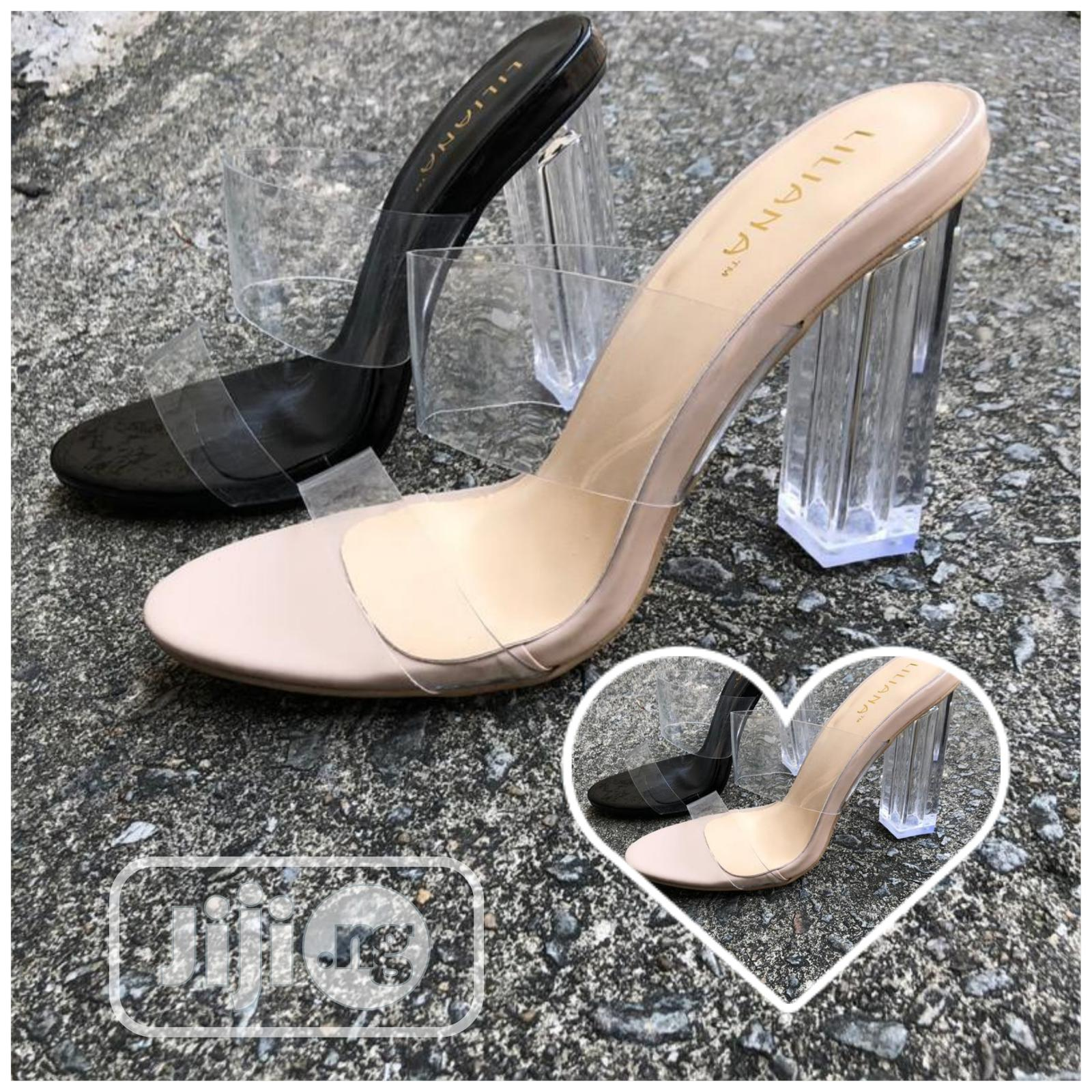 Glass Heel With Transparent Cover