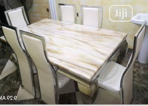 Imported Six Marble Dinning Table | Furniture for sale in Lagos State, Ojota