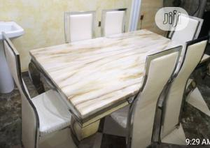 Imported Six Marble Dinning Table | Furniture for sale in Lagos State, Ibeju