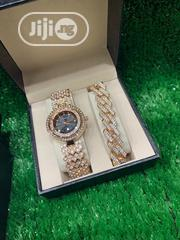 Classic Designer Ladies Wristwatch With Cuban Bracelet | Jewelry for sale in Lagos State, Lagos Island