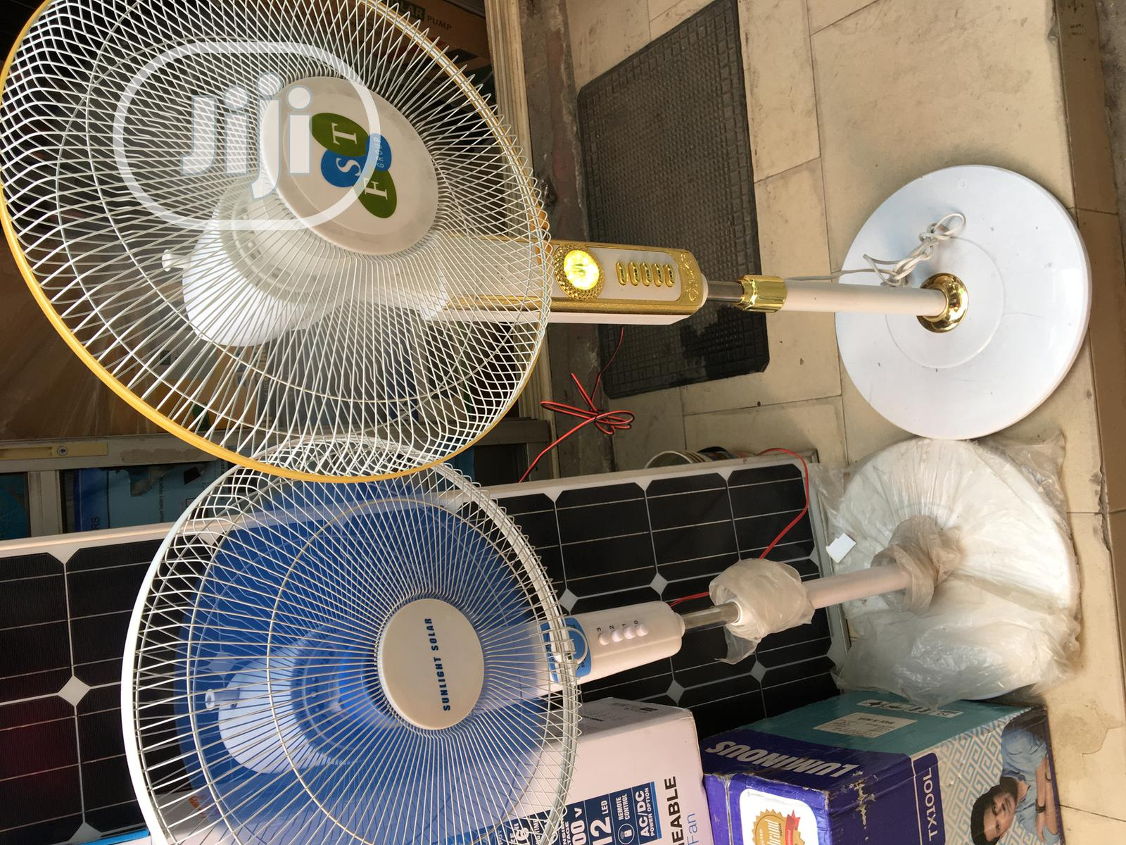 16inches DC Solar Standing Fan Available With 1yr Warranty