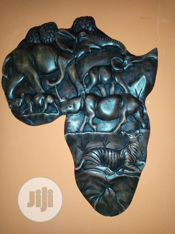 Africa Map/Wood Art Work
