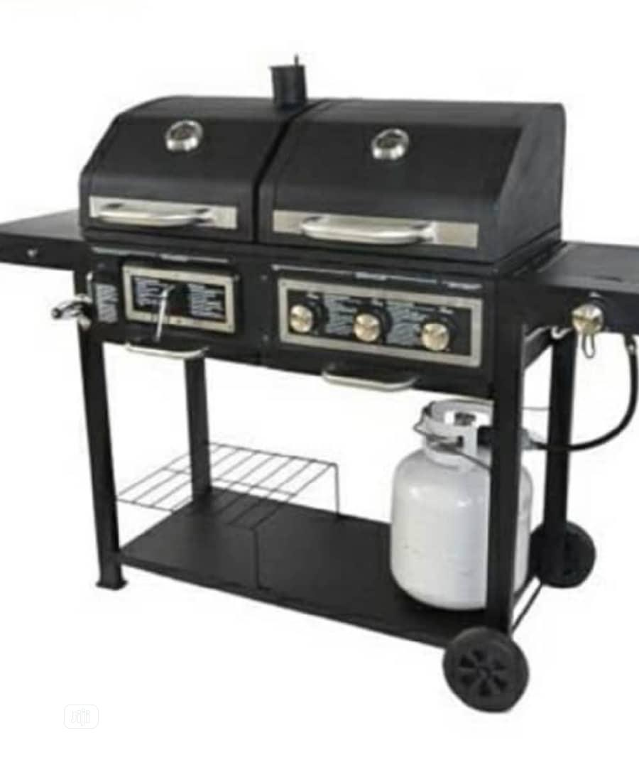 Gas And Charcoal Barbecue