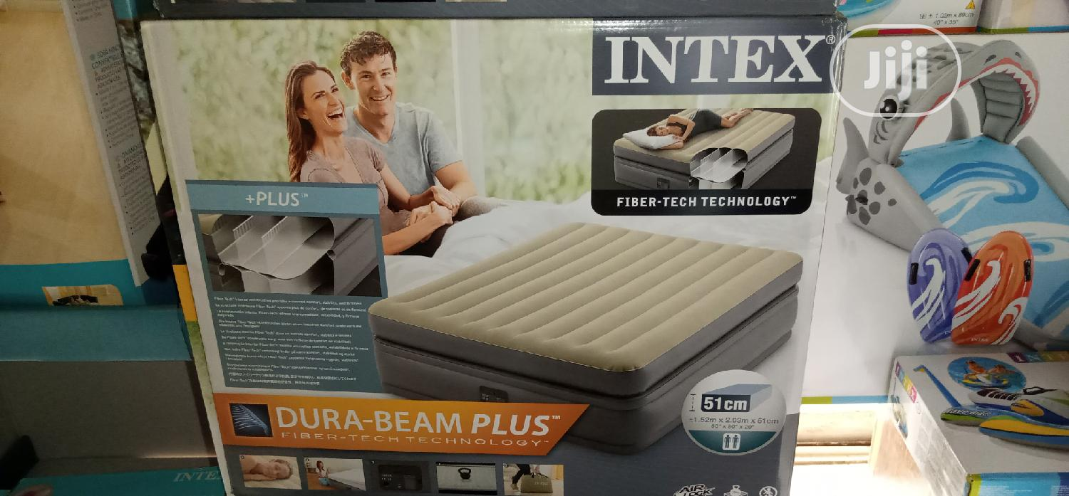 Intex Airbed 2-3 Premaire Elevated Airbed 18inche With Digital Pump