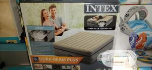 Intex Airbed 2-3 Premaire Elevated Airbed 18inche With Digital Pump   Sports Equipment for sale in Lagos State, Surulere