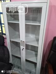 Full Height Glass Metal Cabinet Open Doors | Furniture for sale in Lagos State, Ojo