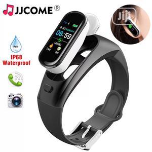 2in1 Answer Call Earphone Heart Rate Blood Pressure Waterproof Watch   Headphones for sale in Lagos State, Ikeja