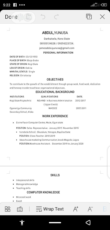 Sales Telemarketing CV | Sales & Telemarketing CVs for sale in Bebeji, Kano State, Nigeria