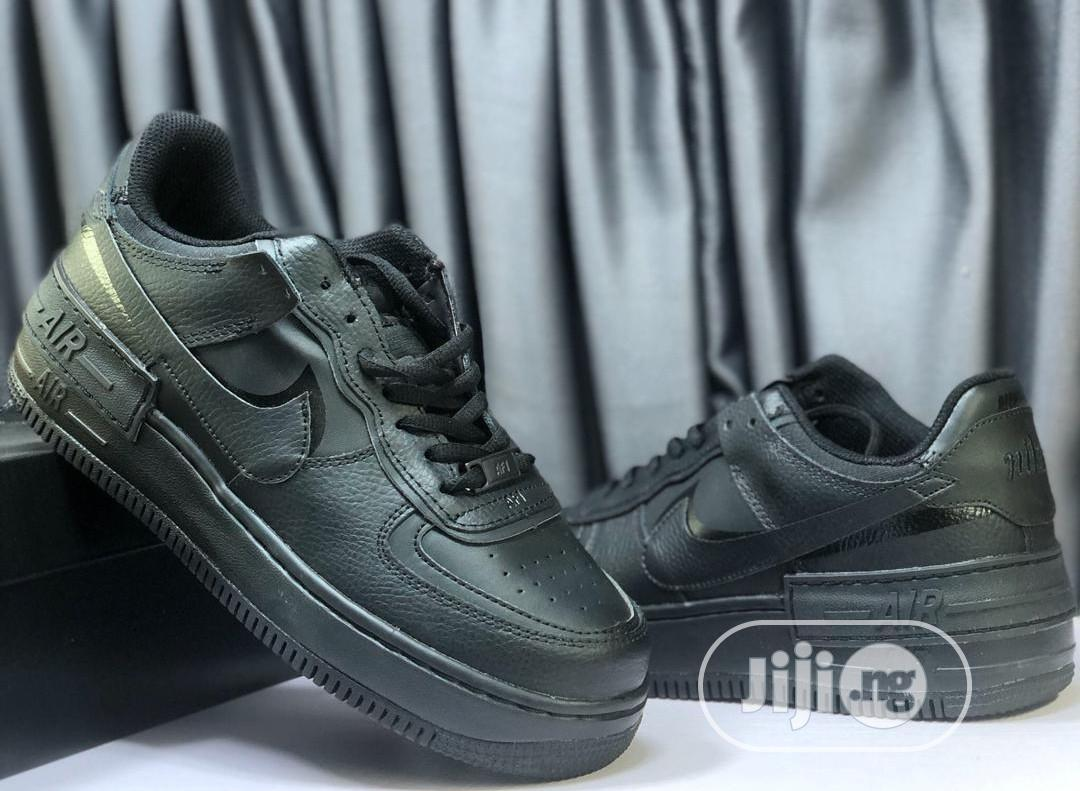 Nike AIRFORCE 1 Shadow All Black   Shoes for sale in Lagos Island, Lagos State, Nigeria