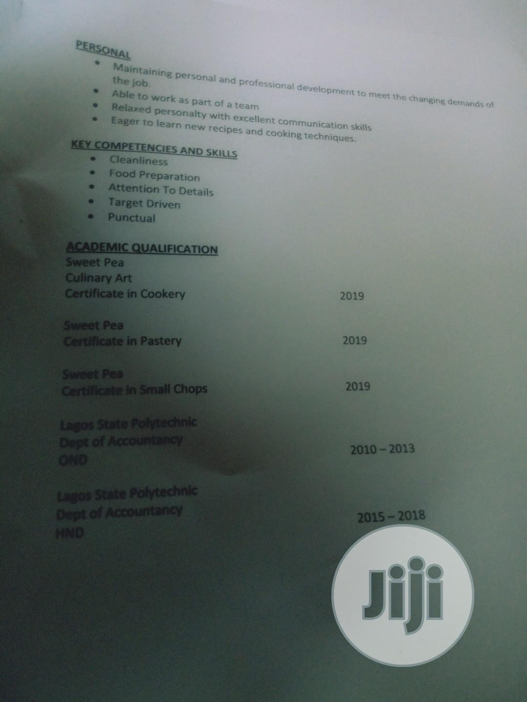Chef/Cook Recruitment | Restaurant & Bar CVs for sale in Amuwo-Odofin, Lagos State, Nigeria