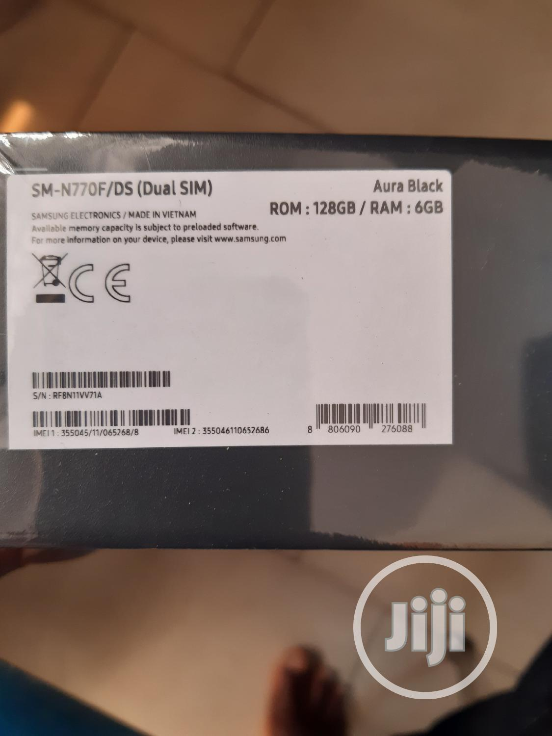 New Samsung Galaxy Note 10 Lite 128 GB Black | Mobile Phones for sale in Ikeja, Lagos State, Nigeria