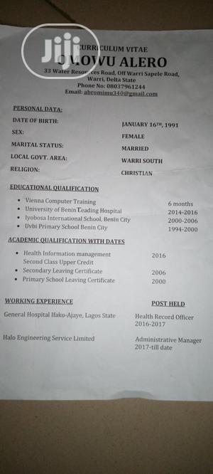Sales Shop Assistant   Sales & Telemarketing CVs for sale in Lagos State, Alimosho