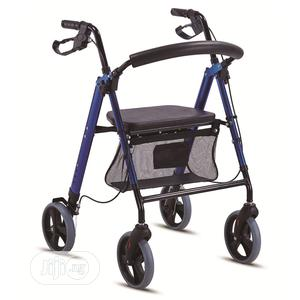 4-wheeled Aluminum Low-seat Rollator   Medical Supplies & Equipment for sale in Lagos State, Ikeja