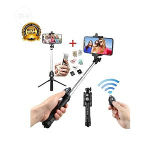 New Bluetooth Remote Controller Handheld Selfie Stick Tripod | Accessories for Mobile Phones & Tablets for sale in Lagos State, Ikeja