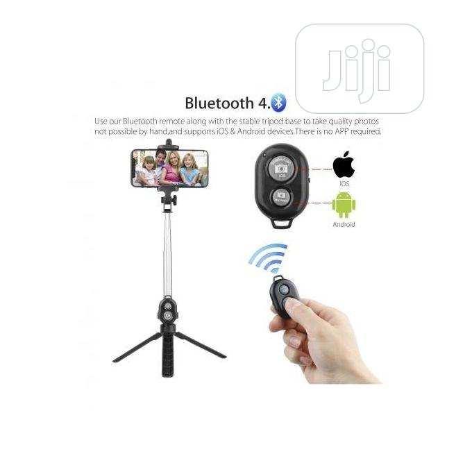 Black Bluetooth Controller Tripod Selfie Stick | Accessories for Mobile Phones & Tablets for sale in Ikoyi, Lagos State, Nigeria