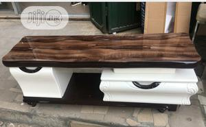 Nice White and Chocolate Tv Stand and Centre Table Set   Furniture for sale in Ogun State, Ado-Odo/Ota