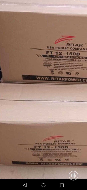 Ritar 12V 150AH Inverter Solar Battery | Solar Energy for sale in Lekki, Lagos State, Nigeria