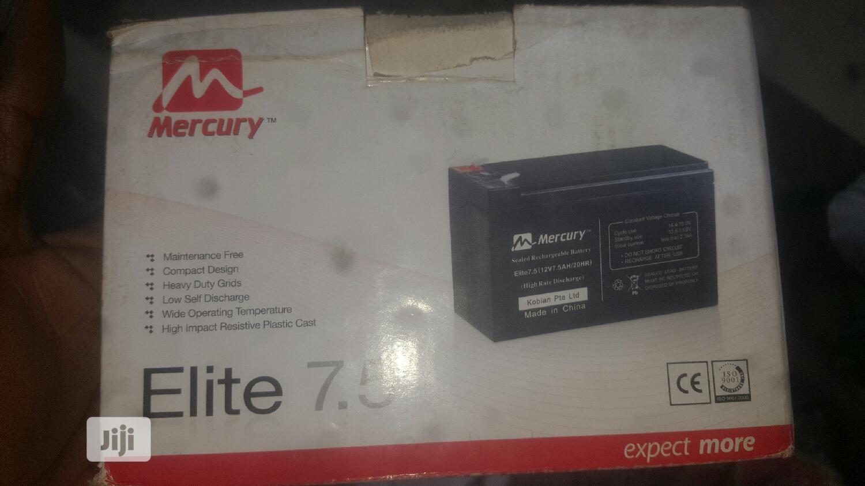 Archive: High Quality 12v 7.5ah Mercury Battery