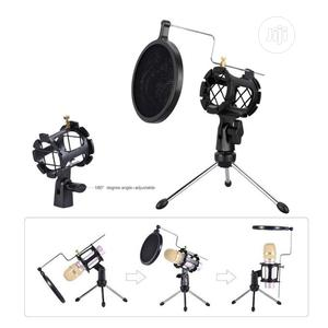 Desktop Tripod Stand For Microphone With Windscreen Filter   Accessories & Supplies for Electronics for sale in Lagos State, Ikoyi