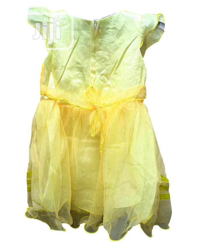 Girls Short Sleeve Party Dress-red,Blue,Yellow&Pink | Children's Clothing for sale in Ojota, Lagos State, Nigeria