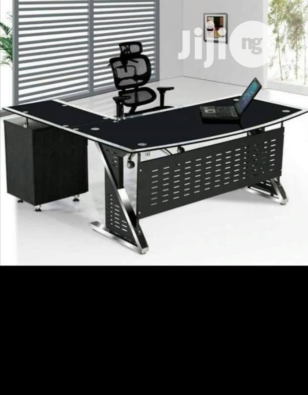 Tempered Glass Office Table Brand New