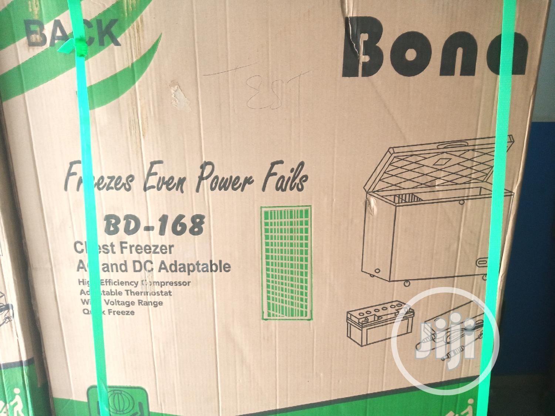 Bona 85watts White 168 Litres Solar/Dc Freezer | Kitchen Appliances for sale in Ojo, Lagos State, Nigeria
