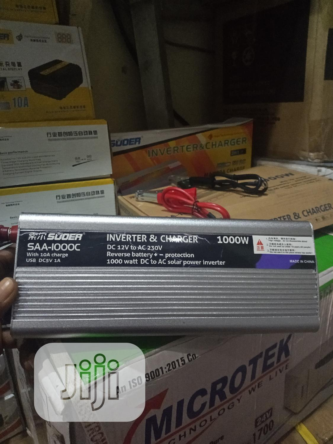 Archive: 1000watts 12V Inverter With 10ahs Charger