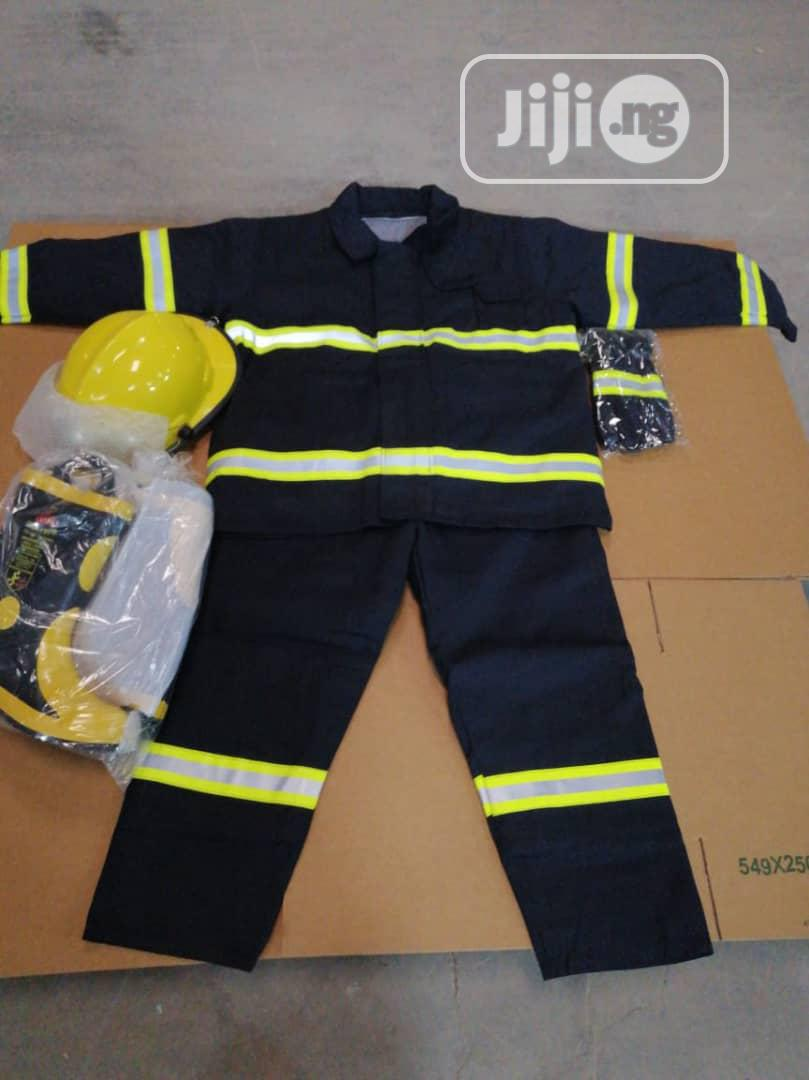 Archive: Original Complet Set Of Fireman Suit