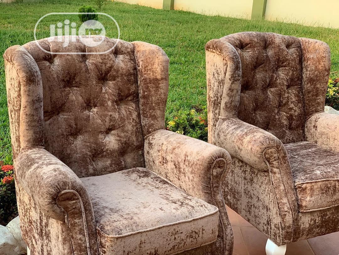 Chesterfield Sofa With Stool