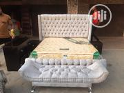 6×6 Bed Frame Complete Set,With Imported Orthopedic Spring Mattress | Furniture for sale in Lagos State, Lekki Phase 1