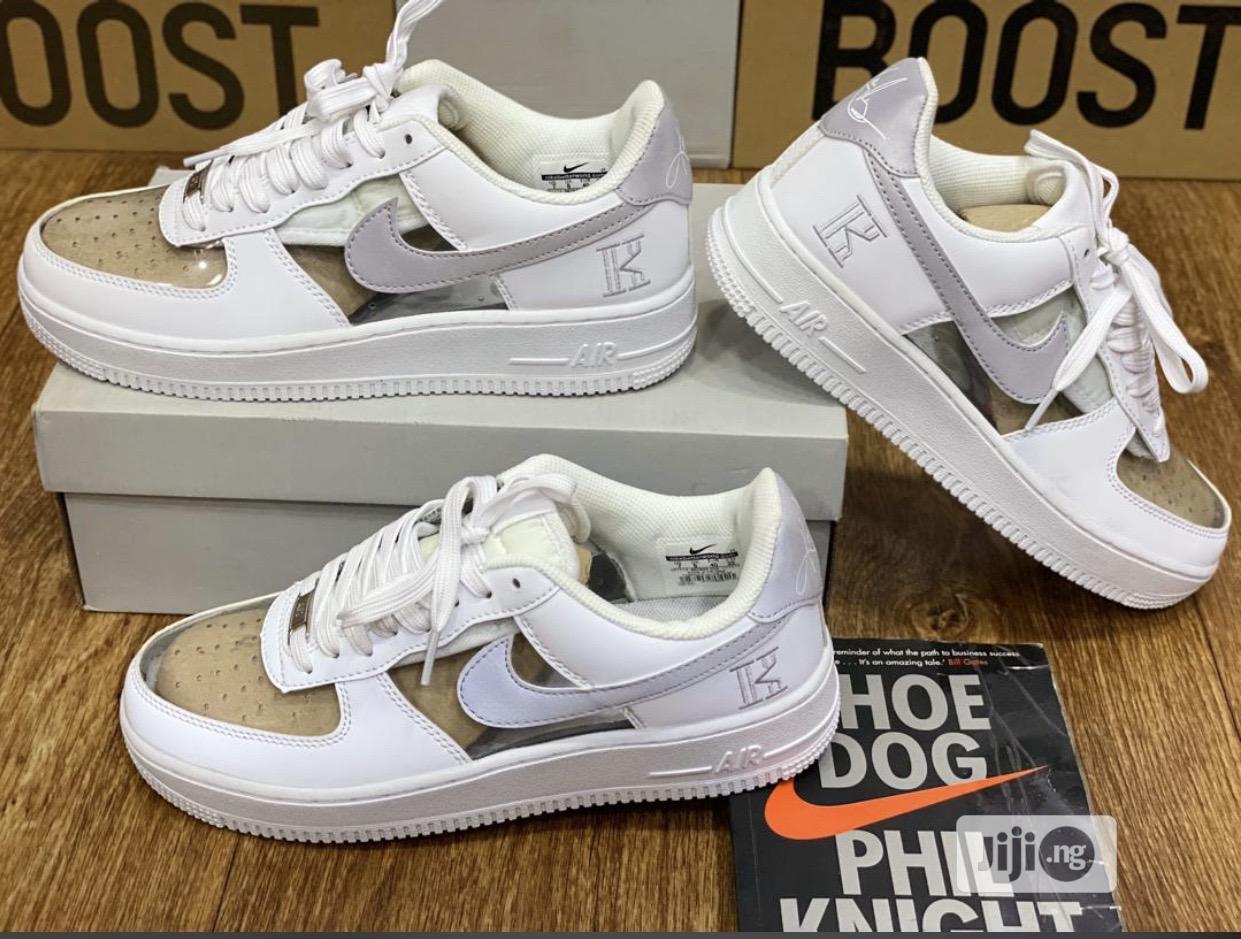 Nike Air Force 1 Transparent White