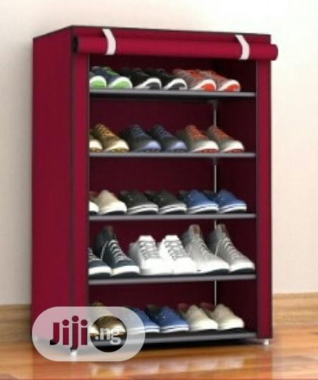 Universal Chef Shoe Rack With Cover - 5 Tier