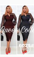 Quality Female Fitted Net Long Sleeve Gown | Clothing for sale in Ojodu, Lagos State, Nigeria