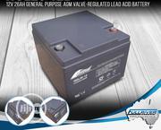 Fullriver 26ah-12v Deep Cycle Battery | Solar Energy for sale in Lagos State, Ikeja