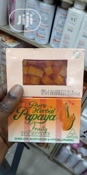 Pure Herbal Papaya Soap (3 Pieces) | Bath & Body for sale in Lagos State, Lagos Island (Eko)