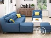 Blue L-Shaped Sofa Set | Furniture for sale in Lagos State, Apapa